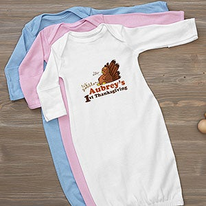 Personalized Baby Gown My First Thanksgiving Thanksgiving Gifts