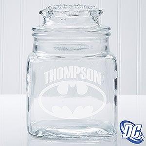 Personalized Batman Glass Jar - 14786
