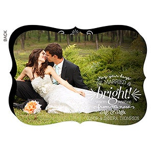 Personalized Couple Christmas Cards - Be Married and Bright - 14802