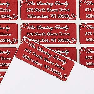 personalized holiday return address labels oh what fun