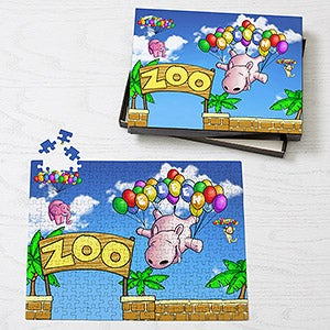 Personalized Kids Puzzles - Floating Zoo - 14808