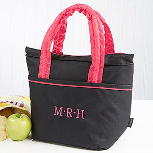 Personalized Lunch Tote - Black - 14831