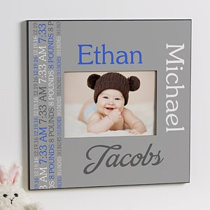 Personalized 5x7 Picture Frame - Darling Baby Boy - 14849