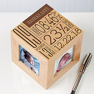 Personalized Baby Photo Cube Picture Frame - 14852