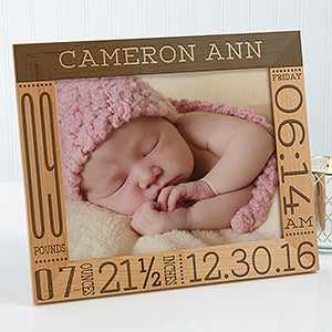 Personalized Baby Birth Information Picture Frame - Baby Love - 14853
