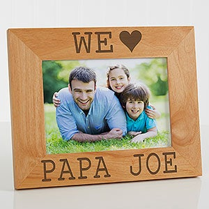 Personalized Wood Picture Frames - We Love Him - 14857