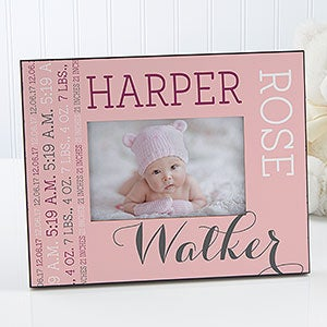 personalized picture frame darling baby girl 14860