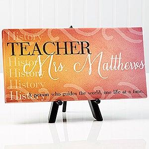 personalized teacher canvas print inspiring teacher 14863