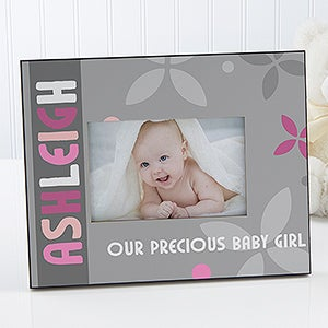 Personalized Baby Girl Picture Frame - Trendy Baby Girl - 14865
