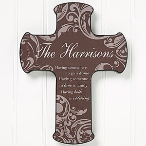 Personalized Wall Cross - Family Blessings - 14873