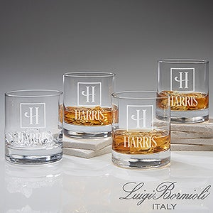 Personalized Luigi Bormioli Double Old Fashioned Glasses - Set of 4 - 14881