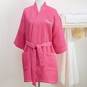 Personalized Pink Kimono Robe & Cosmetic Bag Set - 14886
