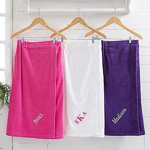 Spa Comfort Ladies Embroidered Towel Wrap - 14898