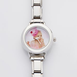 Personalized Women's Photo Silver Watch - 14900D