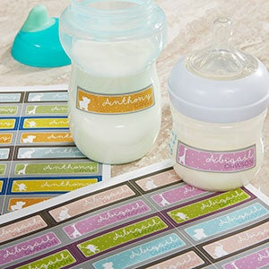 Personalized Baby Bottle Labels - Baby Zoo Animals - 14913