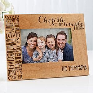 Personalized Family Photo Frame - Cherish The Simple Things - 14949