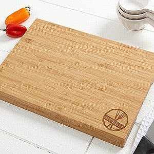 Personalized Bamboo Cutting Board - Family Brand - 14951