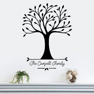 Personalized Family Vinyl Wall Art - Our Roots - 14975