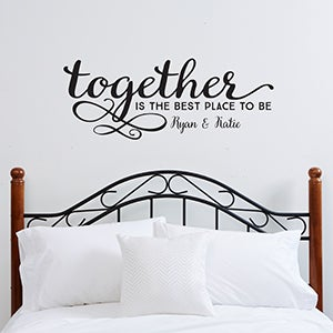 Personalized family vinyl wall art together is the best for Best brand of paint for kitchen cabinets with christian word art for walls