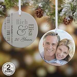 Personalized Anniversary Photo Ornament - Anniversary Memories - 14983