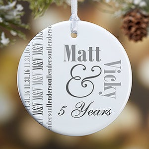 Personalized Anniversary Photo Ornament - Anniversary Memories - 14983