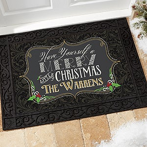 Personalized Doormat - Merry Little Christmas - 14987