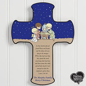 Personalized Precious Moments Cross - Nativity - 14995