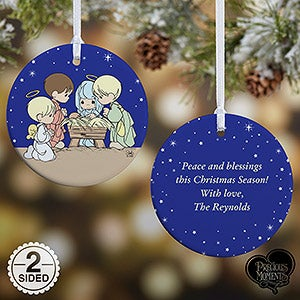 personalized precious moments nativity christmas ornament 14996