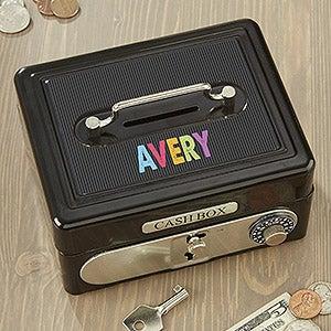 Personalized Kids Safe Cash Box - All Mine! - 15008
