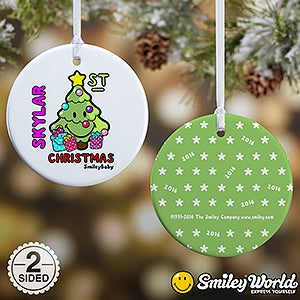 Personalized Baby's 1st Christmas Ornament - Smileyworld - 15010