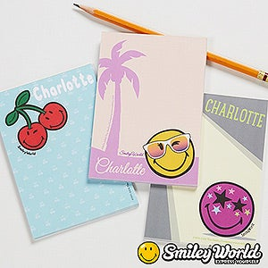 Personalized SmileyWorld Mini Notepad - 15011