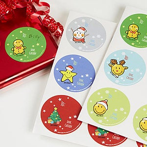 Personalized Christmas Gift Stickers - Smileyworld - 15012