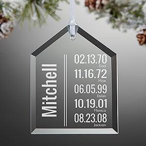 Personalized Christmas Ornament - Milestone Dates - 15019
