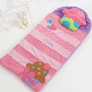 Personalized Sleeping Bag For Girls - Lil' Cupcake Nap Mat - 15023