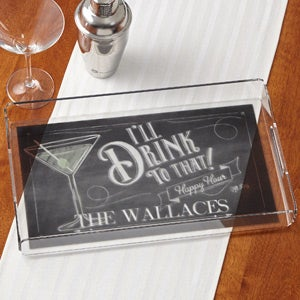 Personalized Serving Tray - I'll Drink To That - 15033