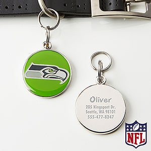 Personalized NFL Pet ID Tag - Seattle Seahawks - 15039