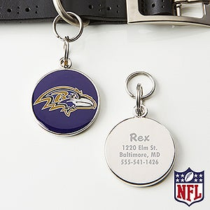 Personalized NFL Pet ID Tag - Baltimore Ravens - 15044