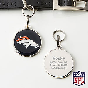 Personalized NFL Pet ID Tag - Denver Broncos - 15046