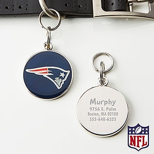 Personalized NFL Pet ID Tag - New England Patriots - 15050