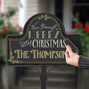 Personalized Garden Stake With Magnet - Merry Little Christmas - 15059