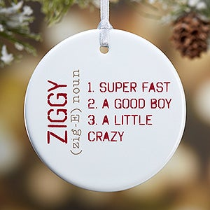 Personalized Photo Christmas Ornament - Definition Of Pet - 15076