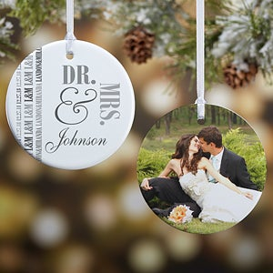 Personalized Wedding Christmas Ornament - We Said I Do