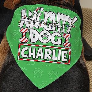 Personalized Christmas Dog Bandana - Naughty Dog - 15079