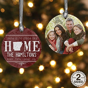 Personalized State Photo Christmas Ornament - State Of Love  - 15083