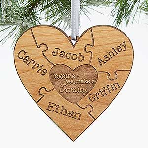 Together We Make A Family Personalized Ornament - #15089