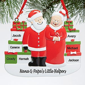 personalized mr and mrs claus christmas ornament
