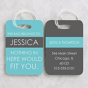 Full Of Wit Personalized Luggage Tag 2 Pc Set