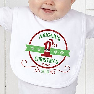 Personalized Baby's First Christmas Apparel - Santa Loves Me - 15123