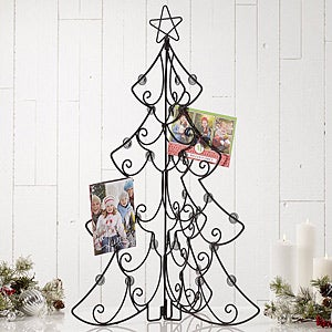 "Folding Metal Tree Tabletop Christmas Card Display Holder- 31.75"" - #15143"