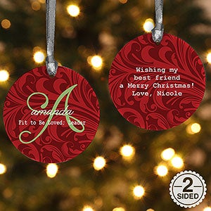 Personalized Christmas Ornament - Name Meaning - 2 Sided - 15146